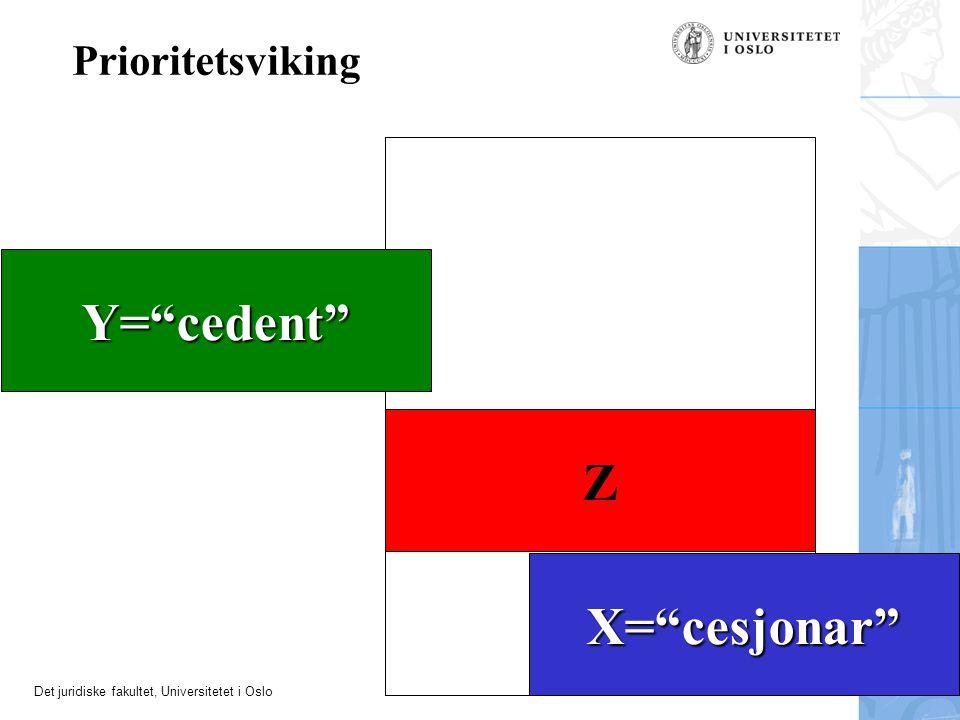 Y= cedent Z X= cesjonar