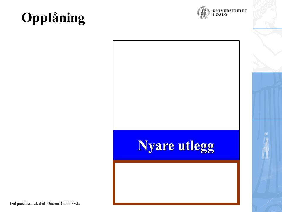 Opplåning Nyare utlegg 10