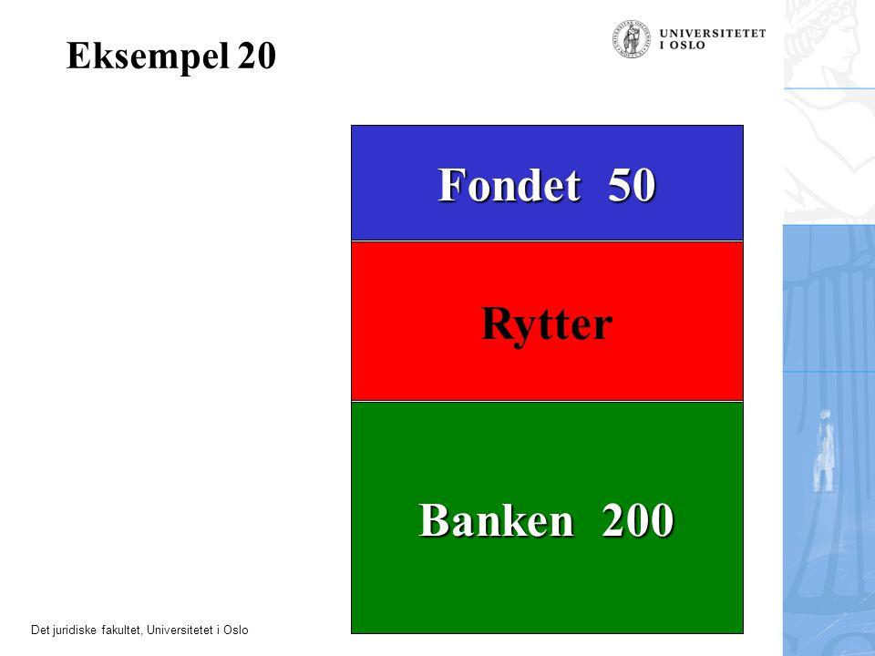 Eksempel 20 Fondet 50 Rytter Banken 200