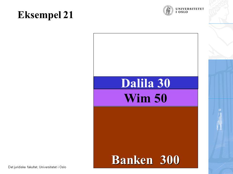 Eksempel 21 Dalila 30 Wim 50 Banken 300 23