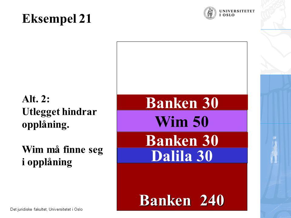Banken 30 Wim 50 Banken 30 Dalila 30 Banken 240