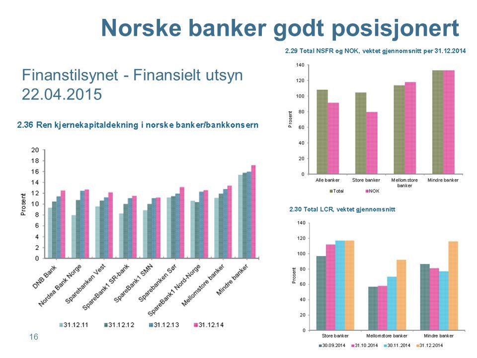 Norske banker godt posisjonert