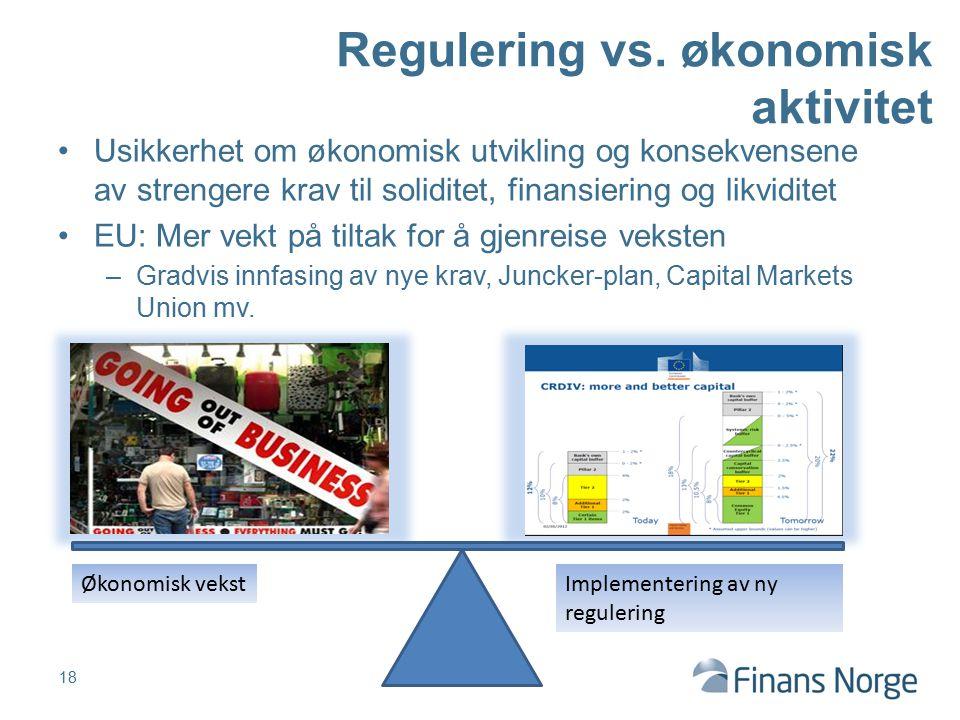 Regulering vs. økonomisk aktivitet
