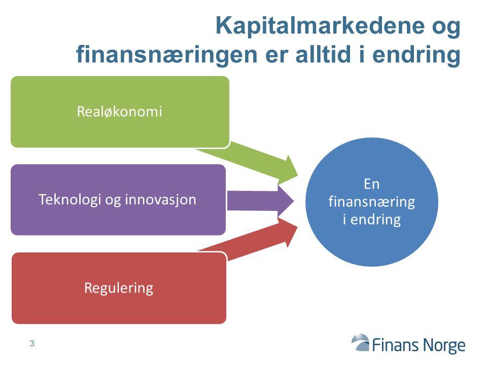 Kapitalmarkedene og finansnæringen er alltid i endring