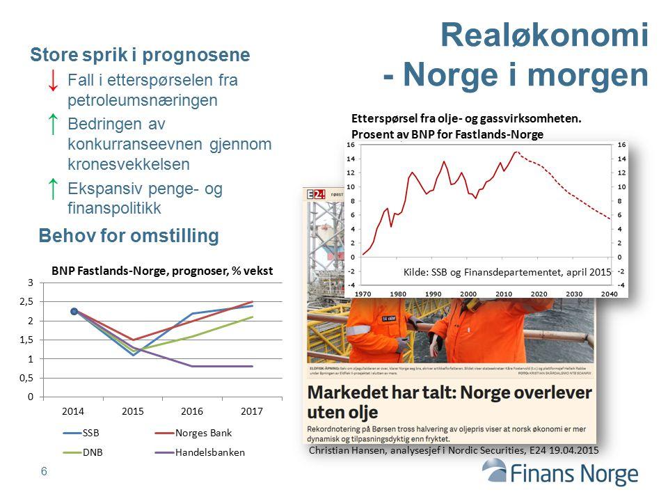 Realøkonomi - Norge i morgen