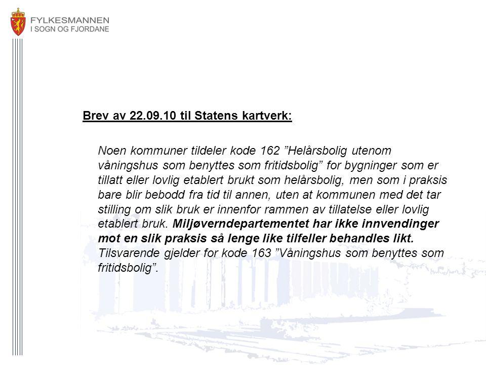 Brev av 22.09.10 til Statens kartverk: