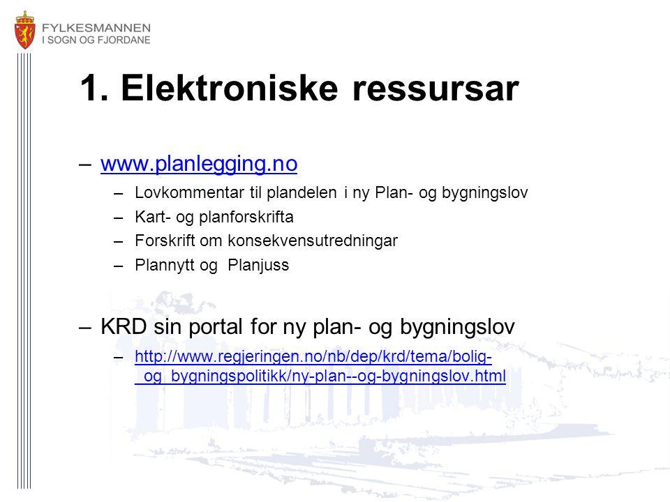 1. Elektroniske ressursar
