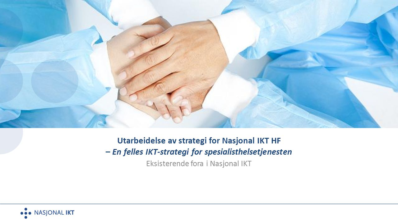 Eksisterende fora i Nasjonal IKT