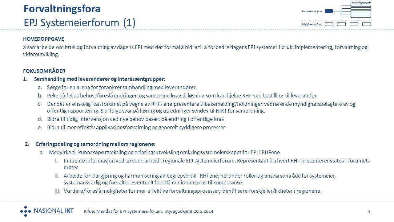 Forvaltningsfora EPJ Systemeierforum (1)