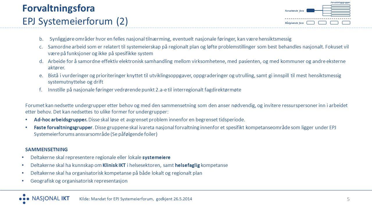 Forvaltningsfora EPJ Systemeierforum (2)