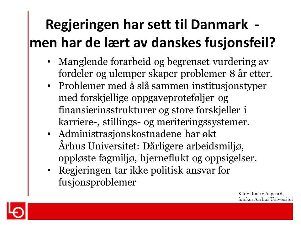 Regjeringen har sett til Danmark - men har de lært av danskes fusjonsfeil