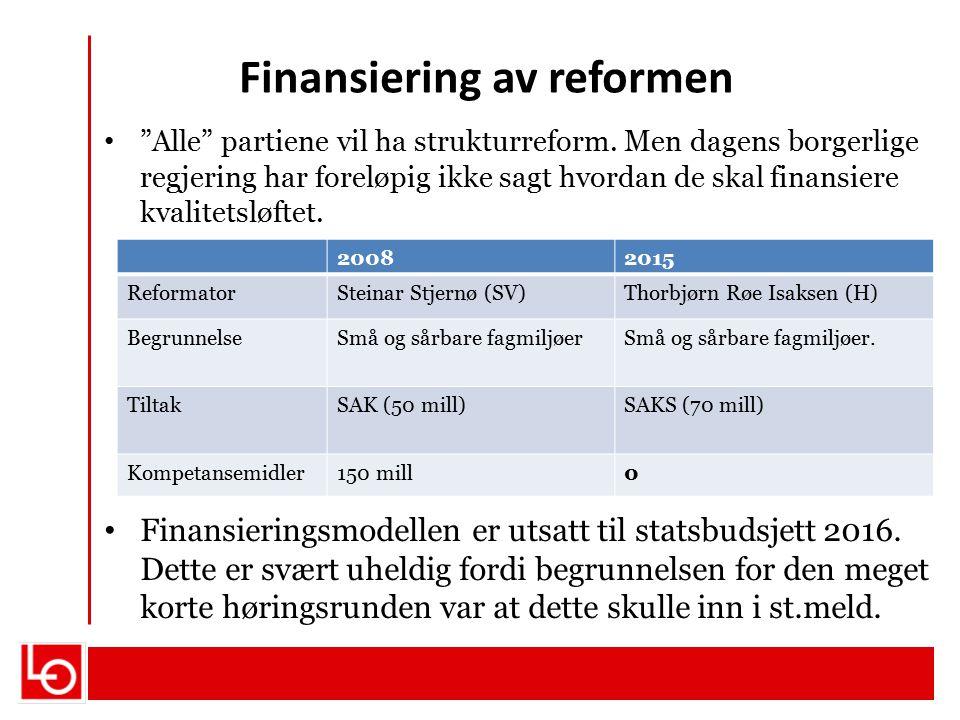 Finansiering av reformen