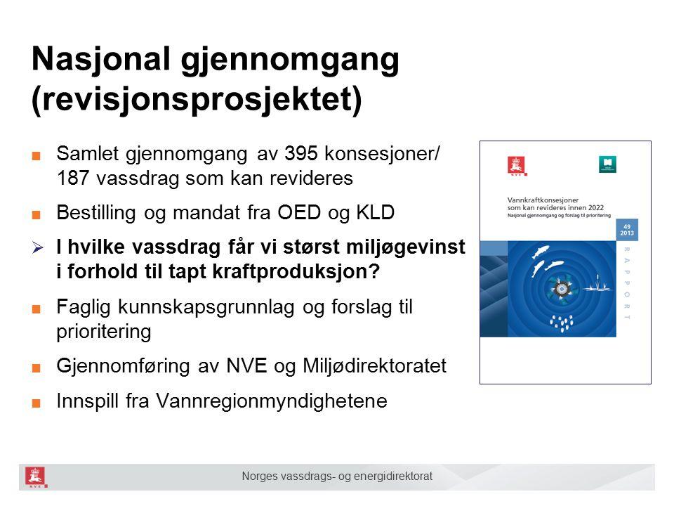 Nasjonal gjennomgang (revisjonsprosjektet)