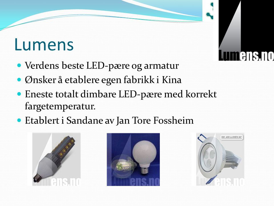 Lumens Verdens beste LED-pære og armatur