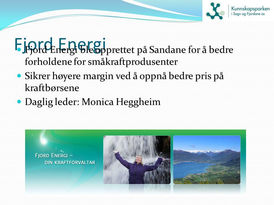 Fjord Energi Fjord Energi ble opprettet på Sandane for å bedre forholdene for småkraftprodusenter.