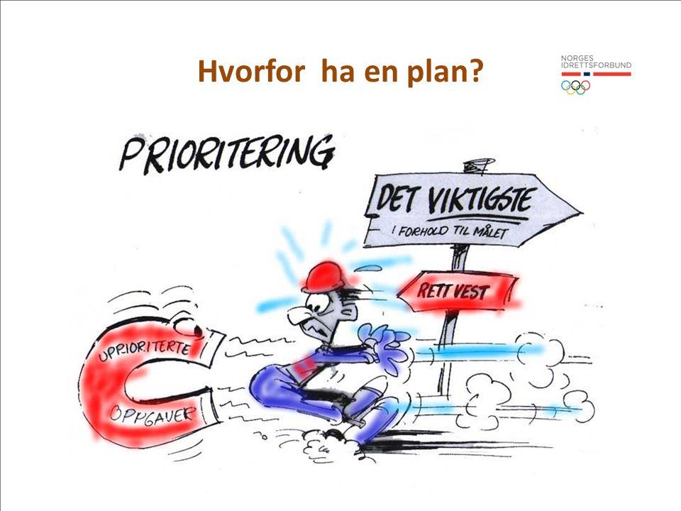 Hvorfor ha en plan Virksomhetsplan = tydelighet og fokus Tydelighet