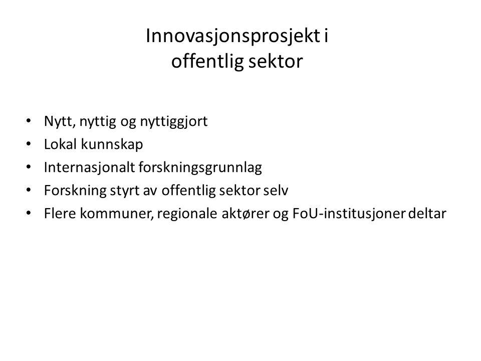 Innovasjonsprosjekt i offentlig sektor