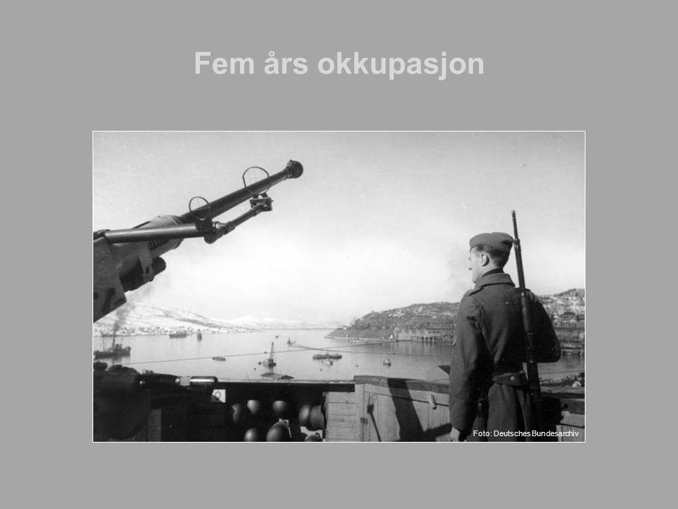 Fem års okkupasjon Tysk vaktpost ved Narvik.