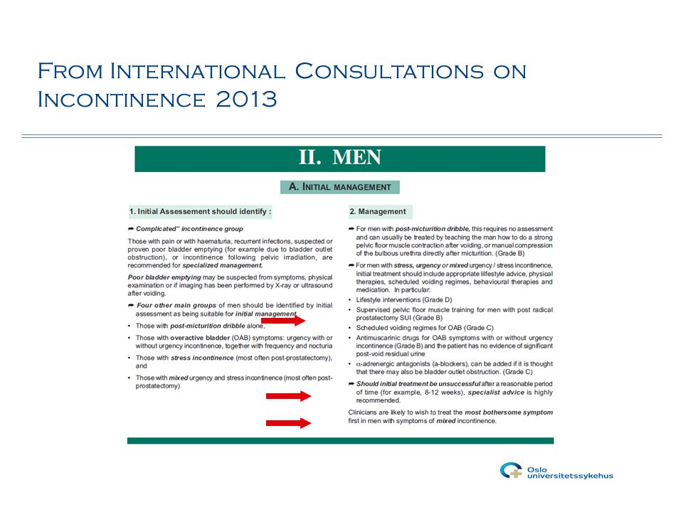 From International Consultations on Incontinence 2013
