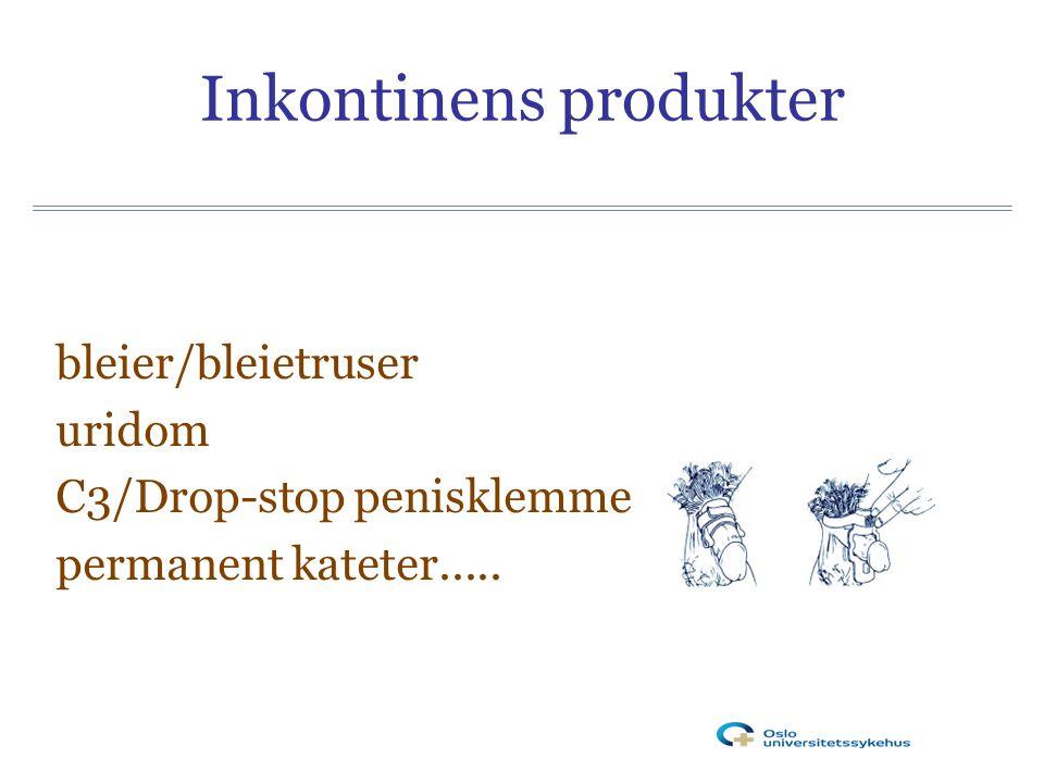 Inkontinens produkter