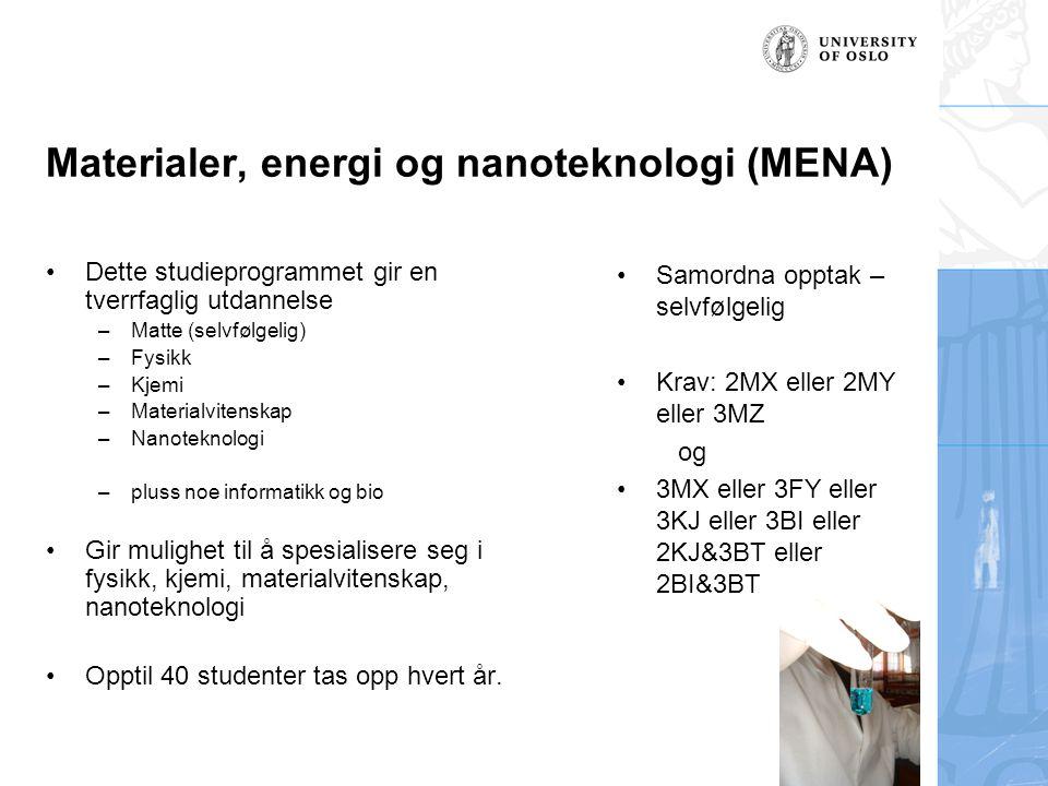 Materialer, energi og nanoteknologi (MENA)