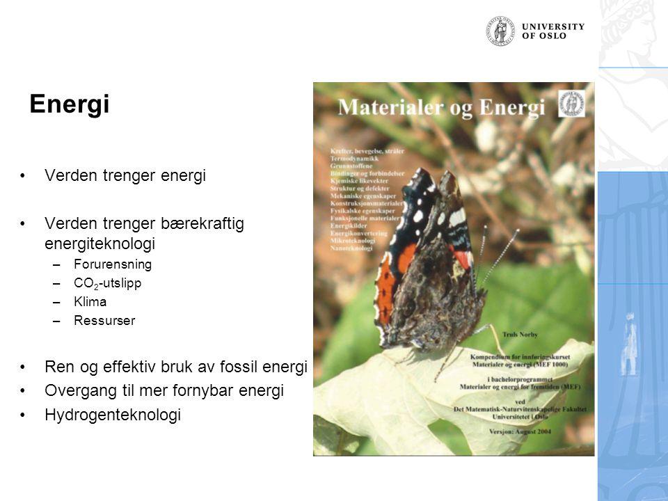 Energi Verden trenger energi