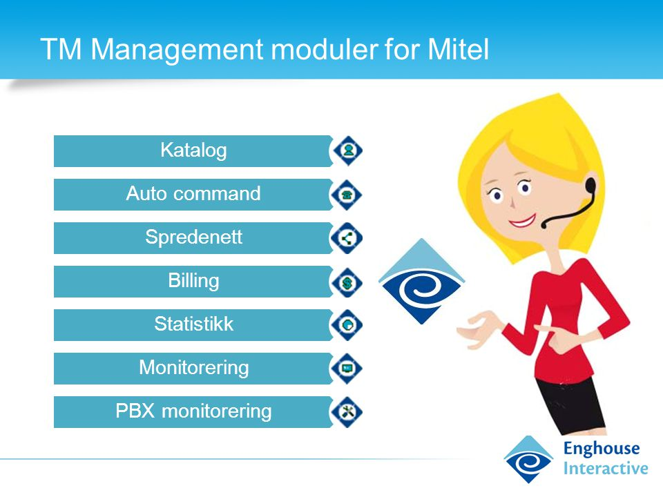 TM Management moduler for Mitel