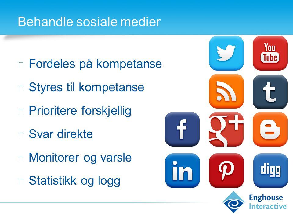 Behandle sosiale medier