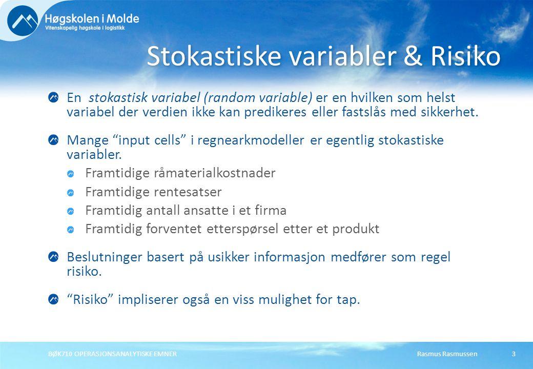 Stokastiske variabler & Risiko