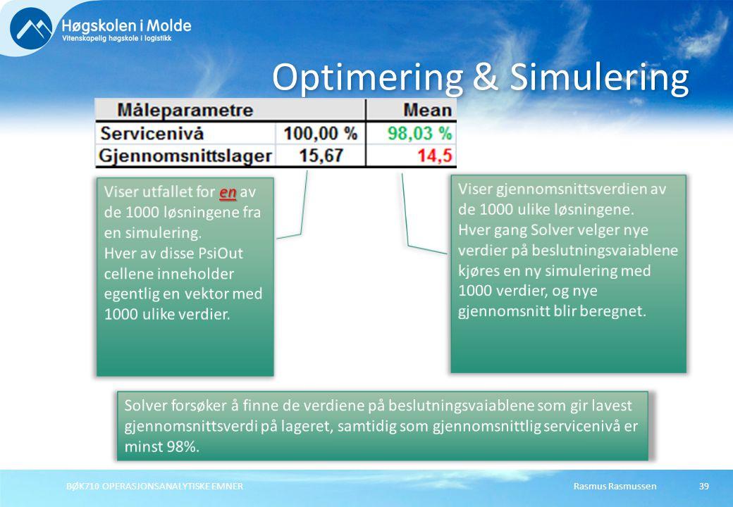 Optimering & Simulering