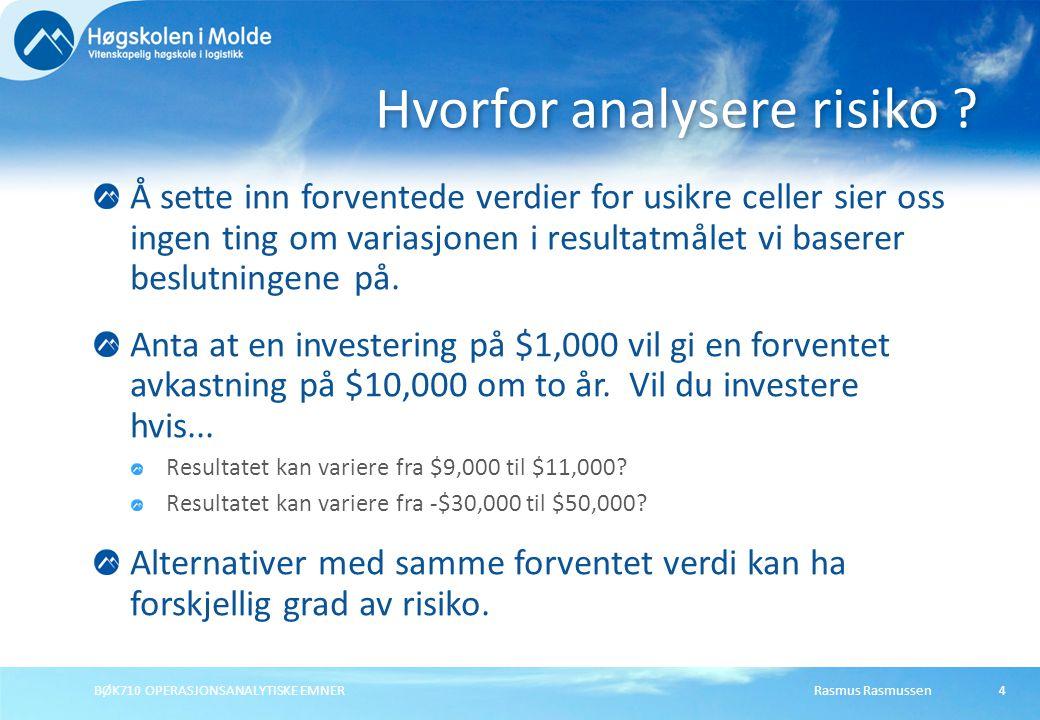 Hvorfor analysere risiko