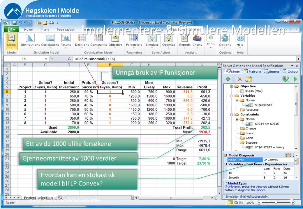 Implementere & Simulere Modellen