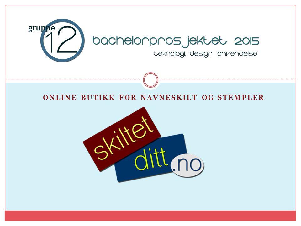 Online butikk for navneskilt og stempler