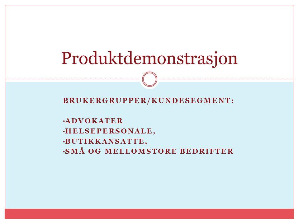 Produktdemonstrasjon
