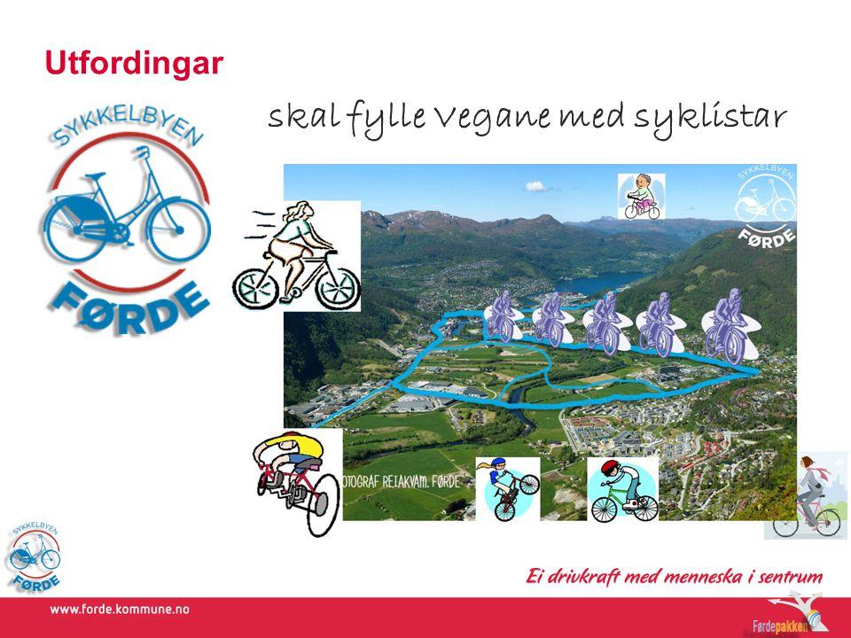 skal fylle Vegane med syklistar
