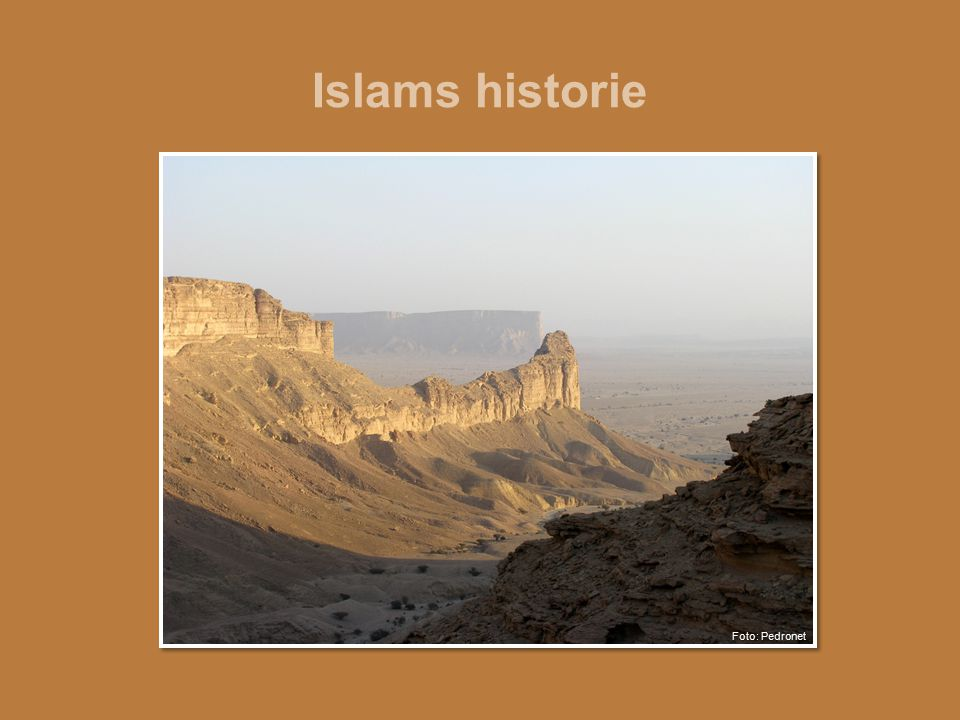 Islams historie Ørkenlandskap i Saudi-Arabia. Foto: Pedronet