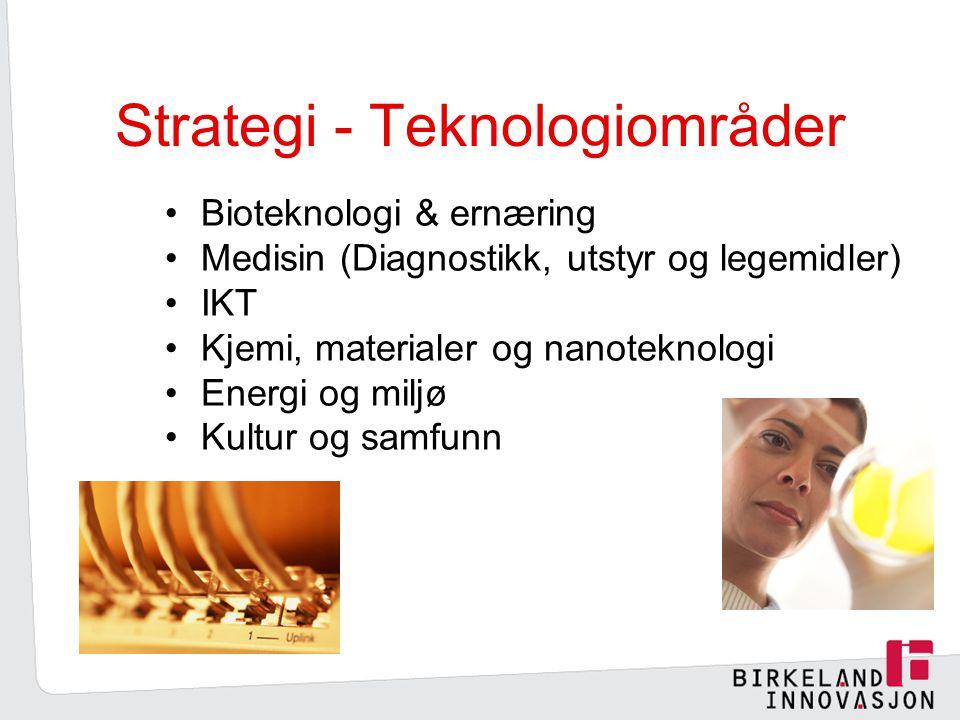 Strategi - Teknologiområder