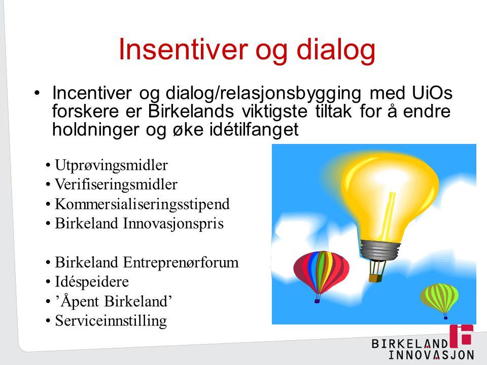 Insentiver og dialog