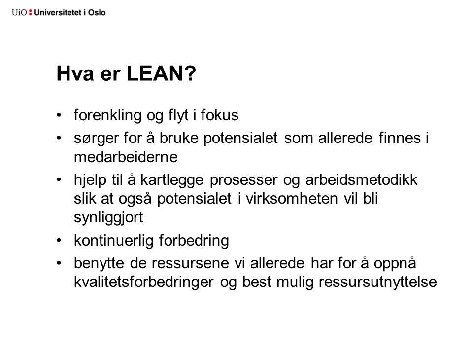 Hva er LEAN forenkling og flyt i fokus