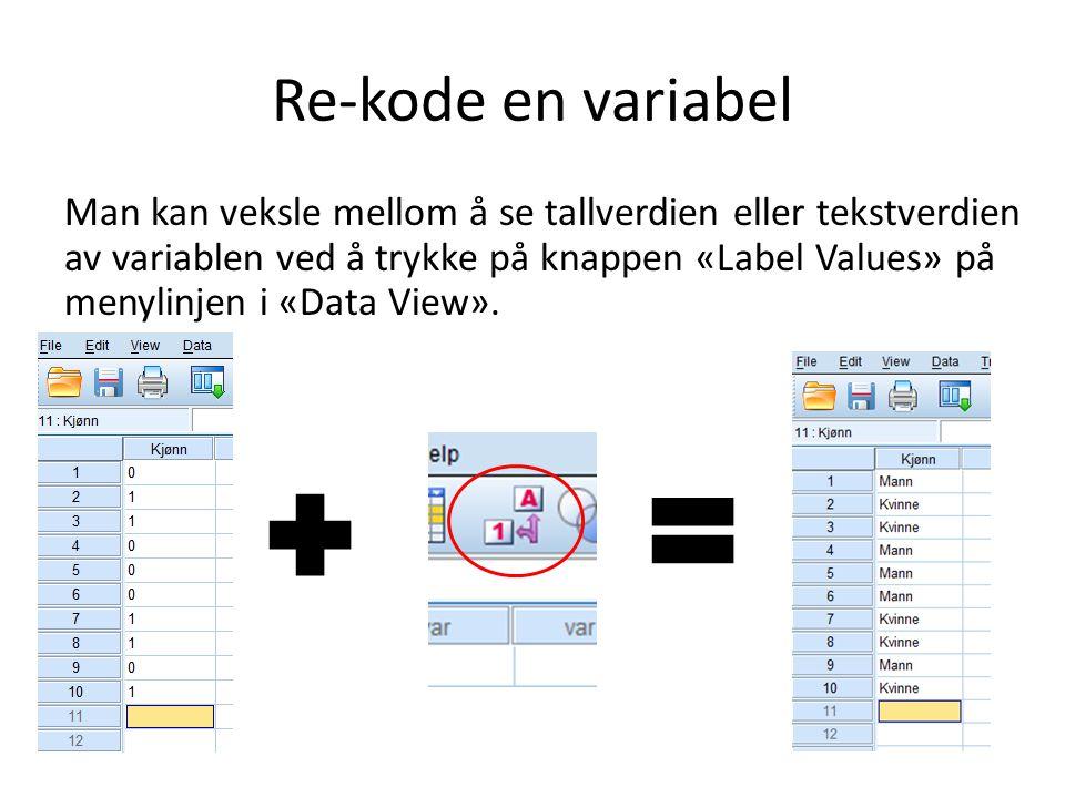 Re-kode en variabel