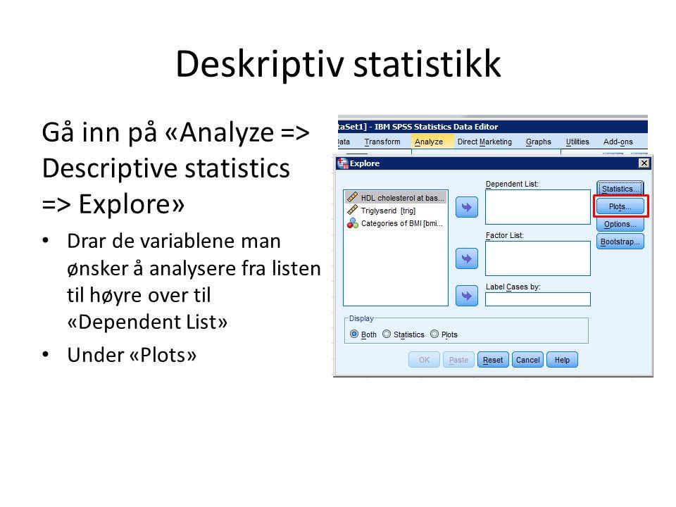 Deskriptiv statistikk