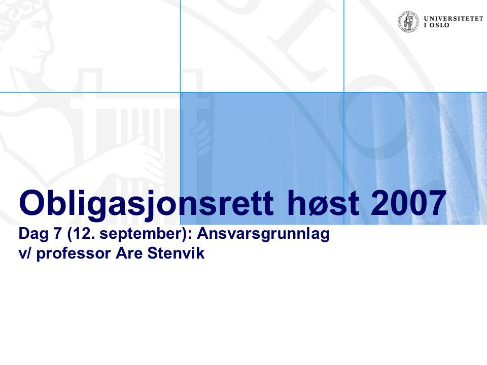Obligasjonsrett høst 2007 Dag 7 (12