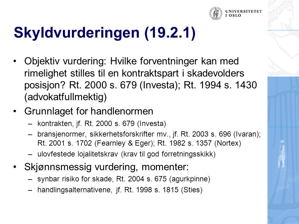 Skyldvurderingen (19.2.1)