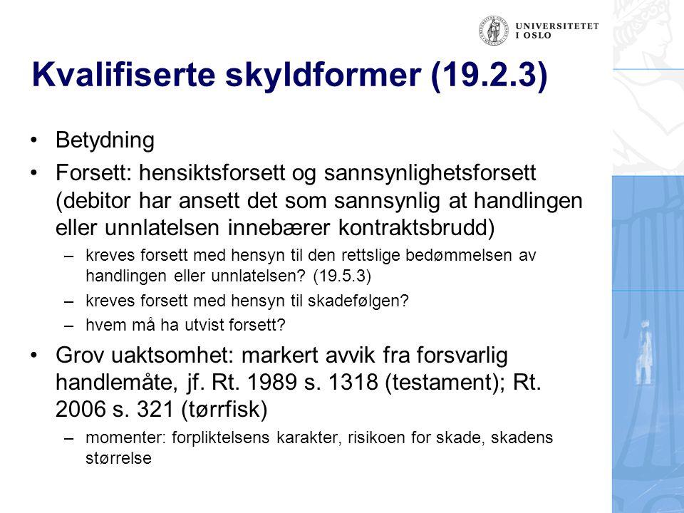 Kvalifiserte skyldformer (19.2.3)