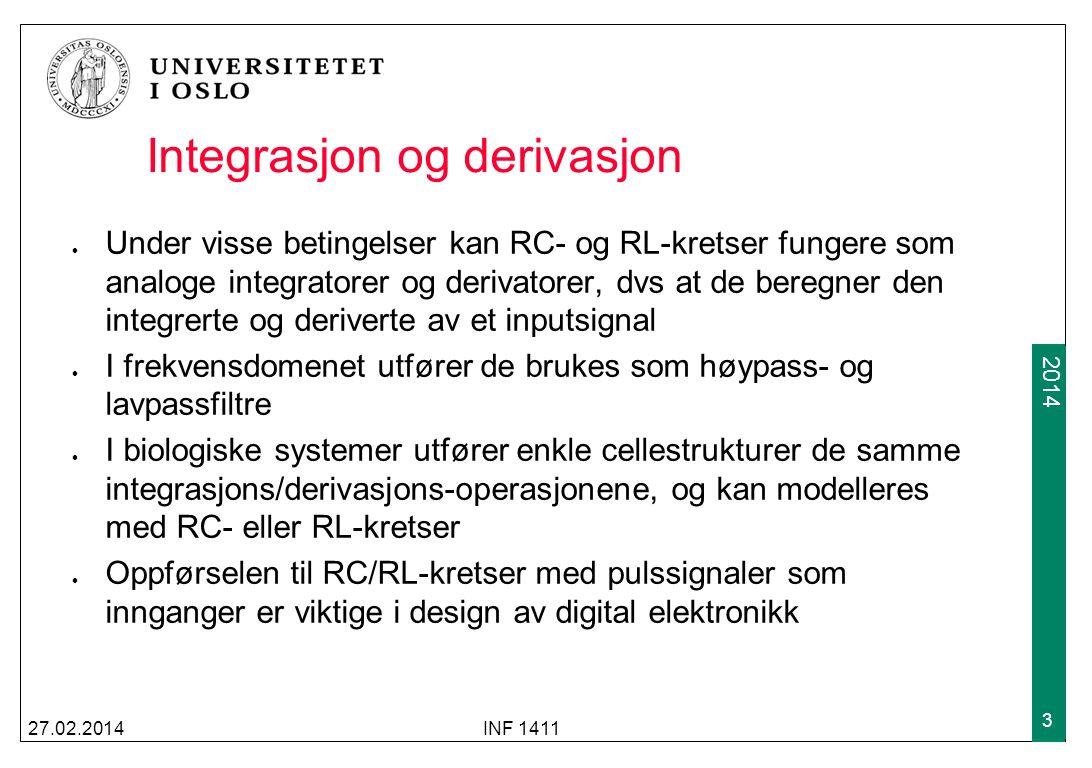 Integrasjon og derivasjon