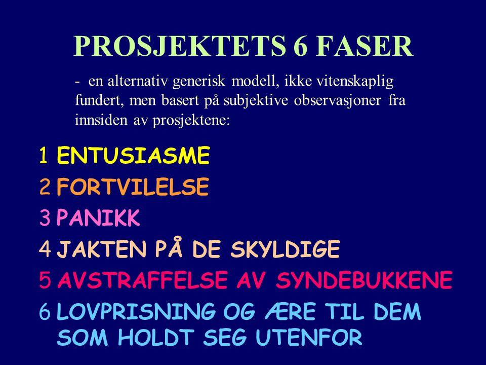 PROSJEKTETS 6 FASER ENTUSIASME FORTVILELSE PANIKK