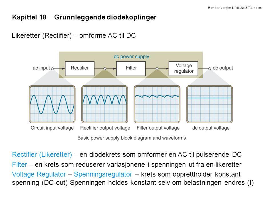 Kapittel 18 Grunnleggende diodekoplinger
