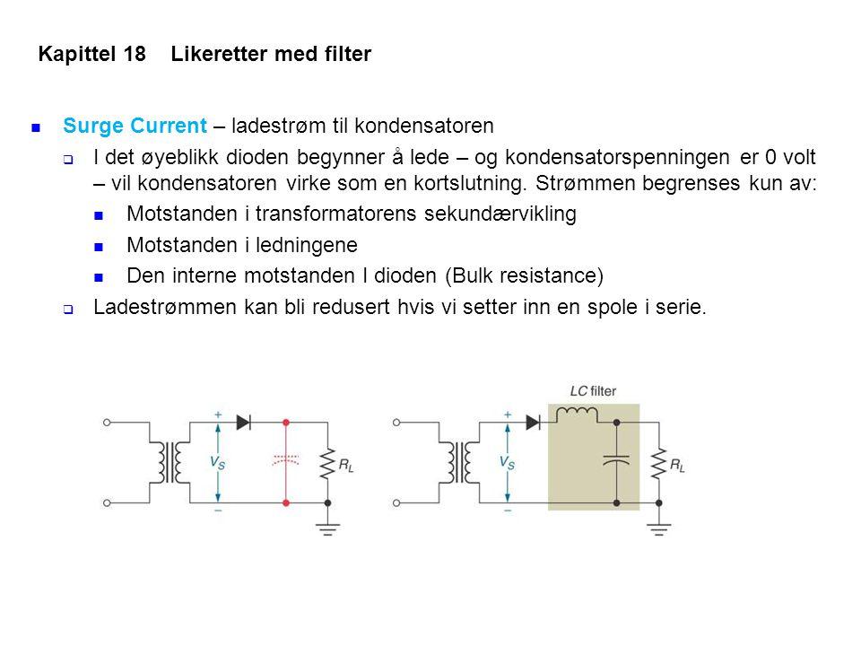 Kapittel 18 Likeretter med filter