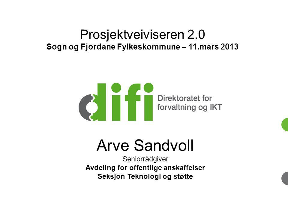 Arve Sandvoll Prosjektveiviseren 2.0