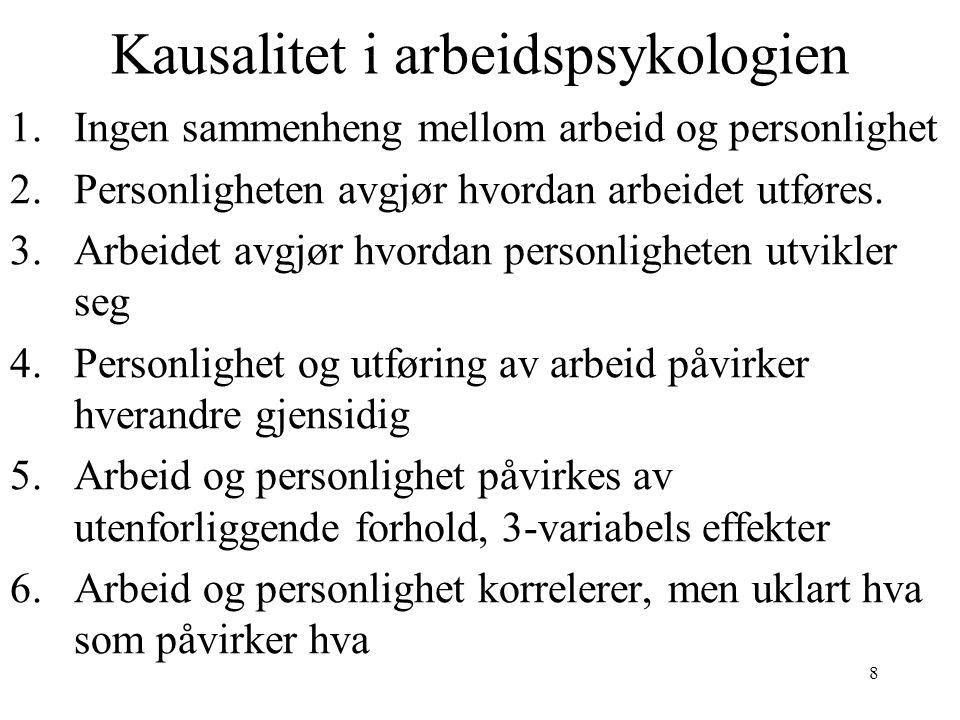 Kausalitet i arbeidspsykologien